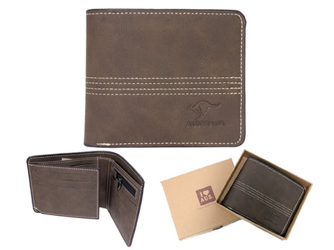 Australia Men's Wallet Brown
