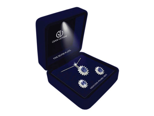 Giani Vernini Flower Silver and Blue Box Set