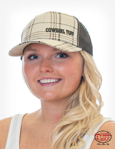 Cowgirl Tuff Plaid Adjustable Trucker Cap