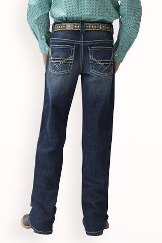 Cinch Boy's Relaxed2 Fit Jean - Dark Stonewash