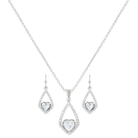 Montana Silversmith Womens Necklace Earrings Set