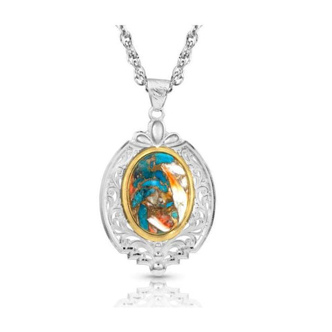 Montana Silversmith Sweet Memories Mountain Glacier Turquoise Necklace
