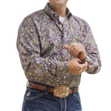 Cinch Men's Paisley Print Western Button-Down Shirt