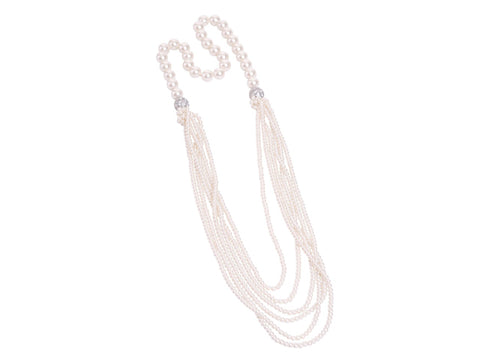 Steel Sapphire Versatile Pearl 4 in 1 Cream Necklace