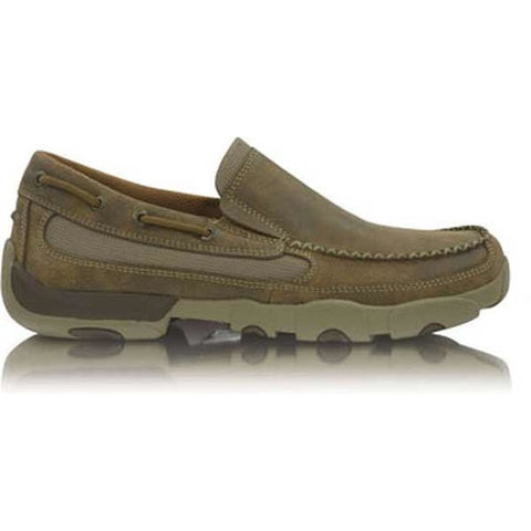 Twisted X Mens Cowboy Casual Driving Mocs Boat Slip-on