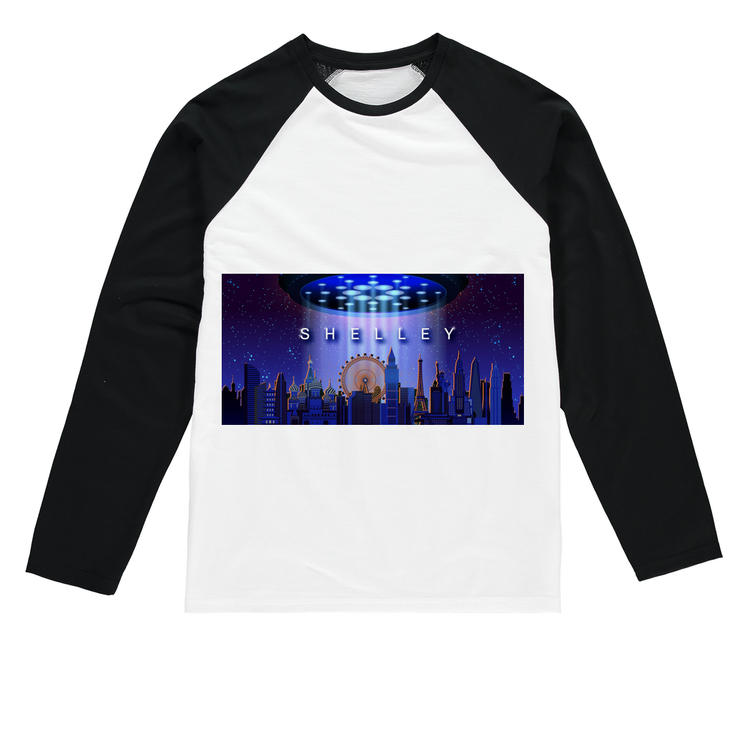 Shelley Sublimation Baseball Long Sleeve T-Shirt