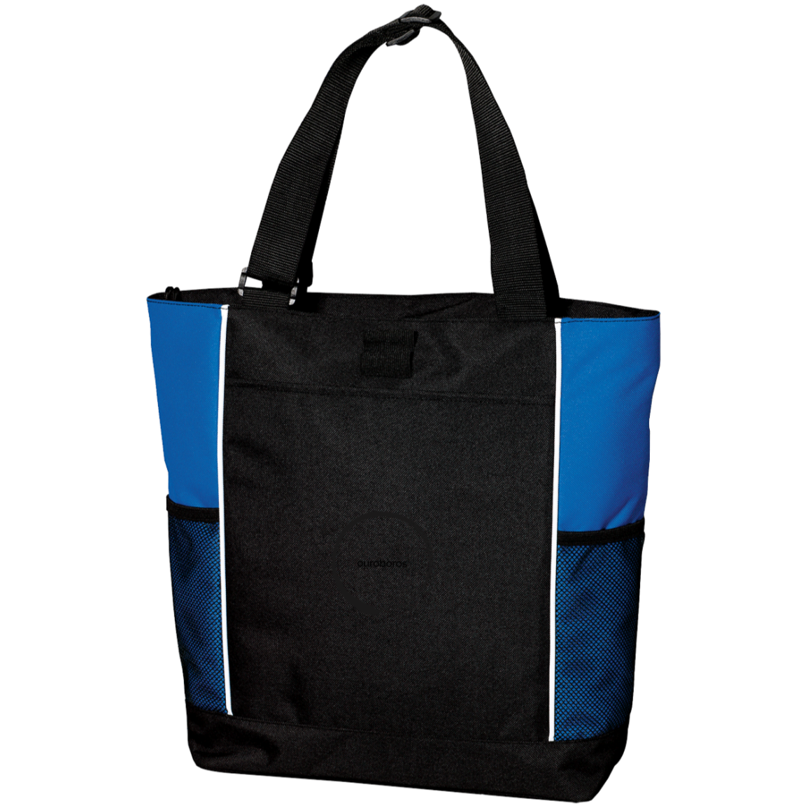 Ouroboros Colorblock Zipper Tote Bag