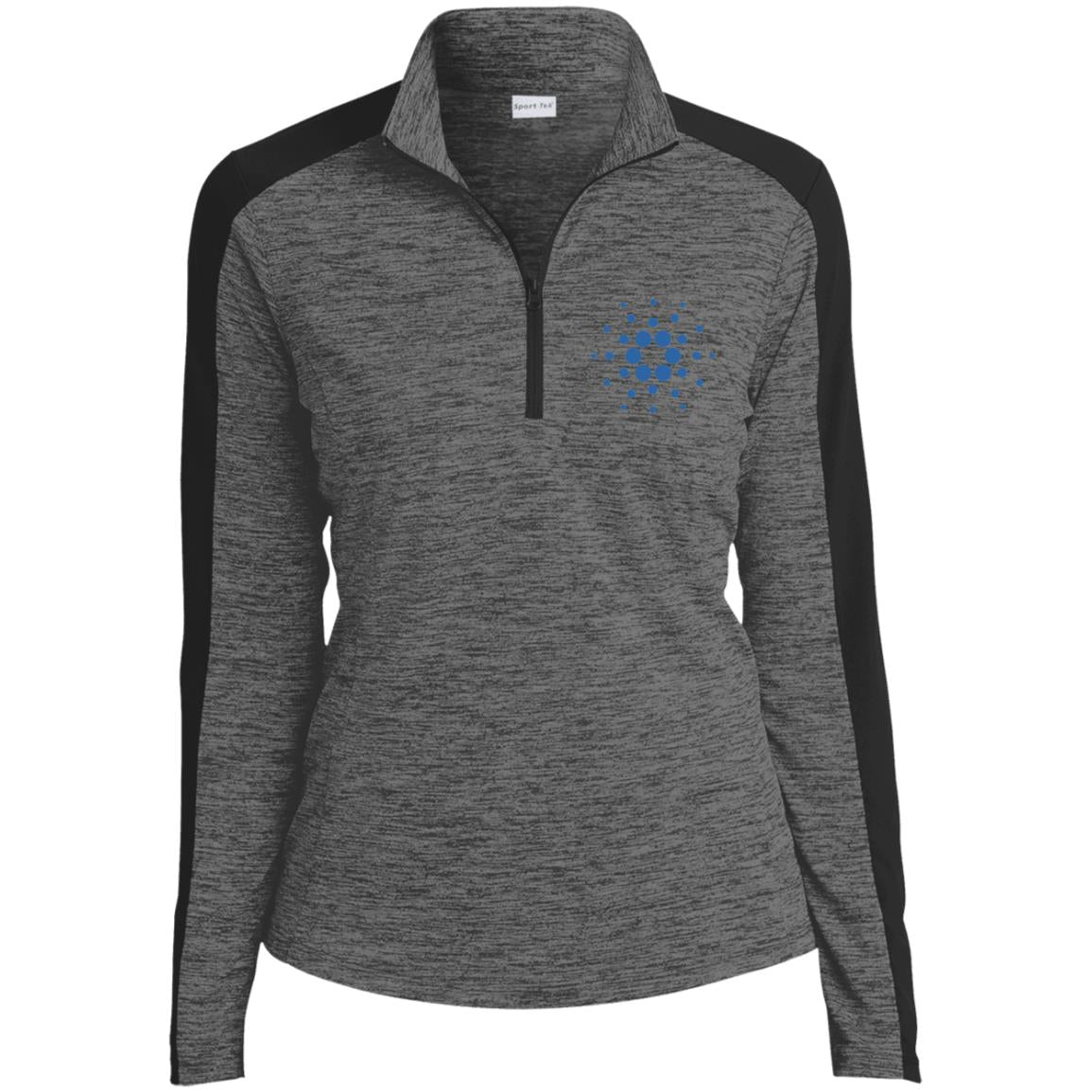 Cardano Electric Heather Colorblock 1/4-Zip Pullover