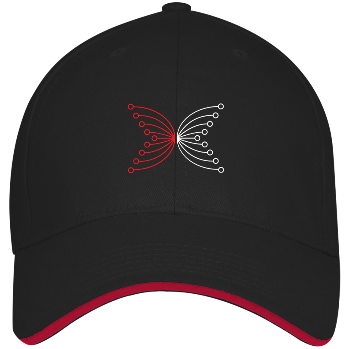 IOHK Structured Twill Cap With Sandwich Visor