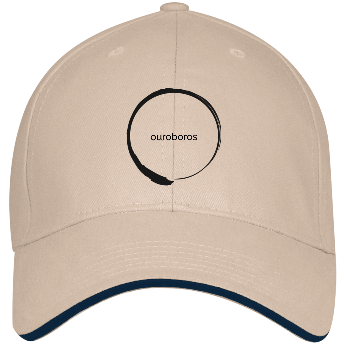 Ouroboros USA Made Structured Twill Cap With Sandwich Visor