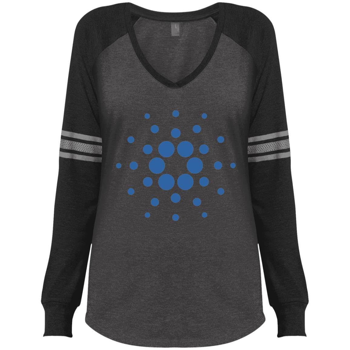 Cardano Game LS V-Neck T-Shirt