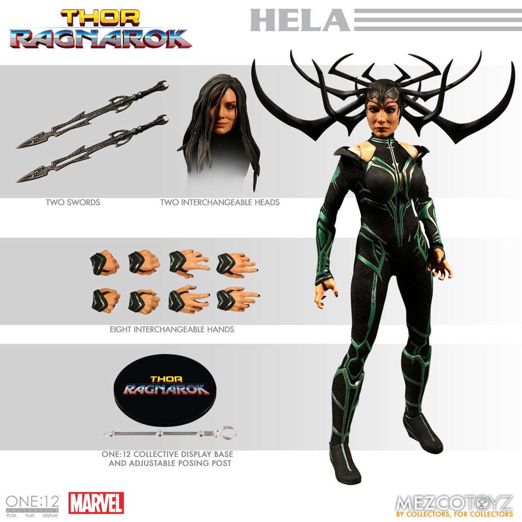 Mezco One-12 Collective Marvel Thor Ragnarok Hela Action Figure