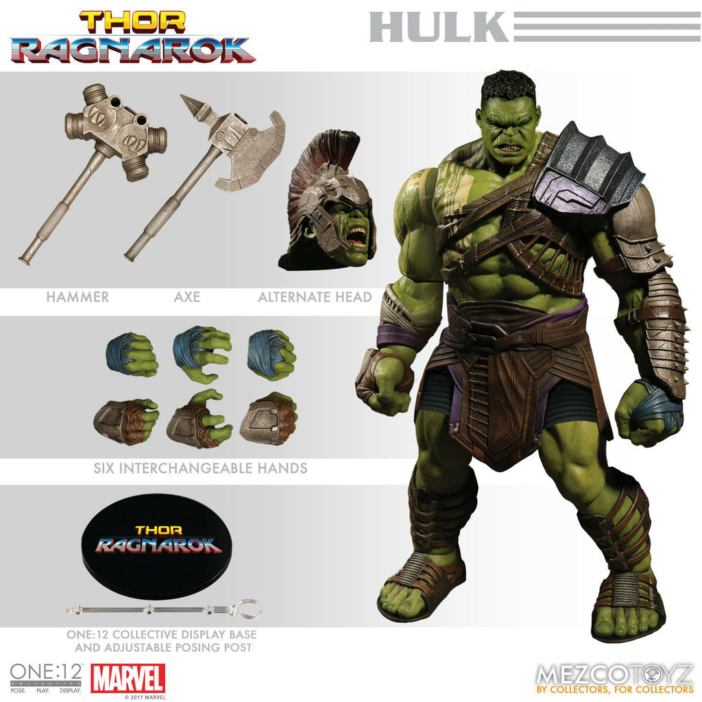 Mezco One:12 Gladiator Hulk Thor Ragnarok Action Figure