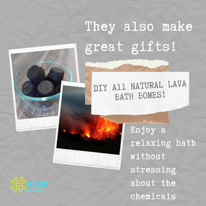 Eco-Friendly Lava Rock Bath Bombs