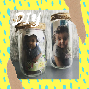 DIY Easy Eco-Friendly Mason Jar Photo Holder