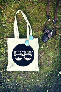 Let's Go Travel Sunglasses Tote Bag | Reusable Bag