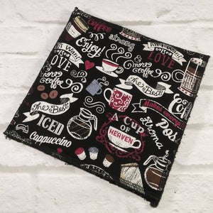 Reusable dishcloth coffee and love