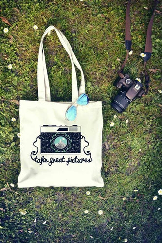 Take Great Picture Photo Camera Tote Bag| Reusable Bag
