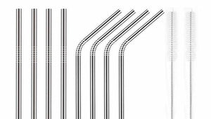 No More Plastic Straws-8pcs/set Stainless Steel Straw