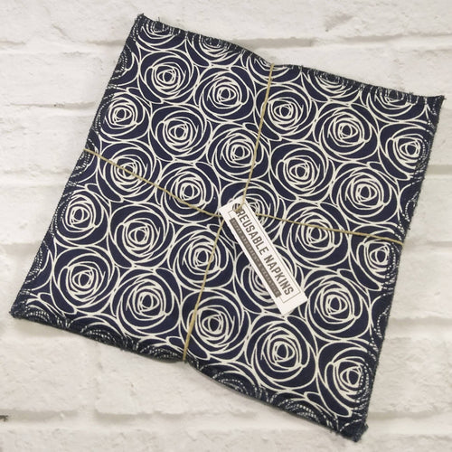 Reusable Napkins Navy Blue