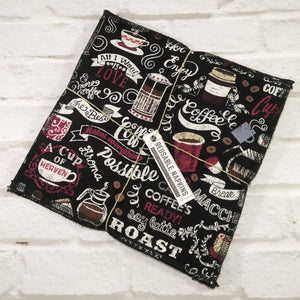 Reusable napkins coffee and love