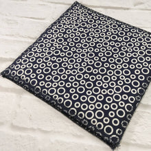 Reusable Dishcloth navy blue circle