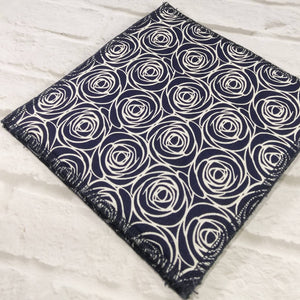 Reusable dishcloth navy blue
