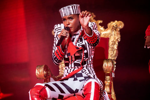 Janelle Monae Performing at Glastonbury Festival