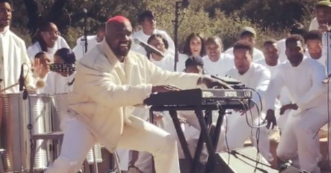 Kanye Brings His 'Sunday Service' to Coachella Atop Mountain