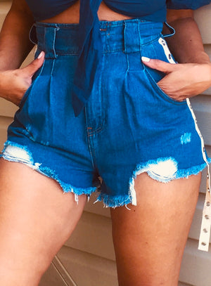 Baby Blue | Denim shorts