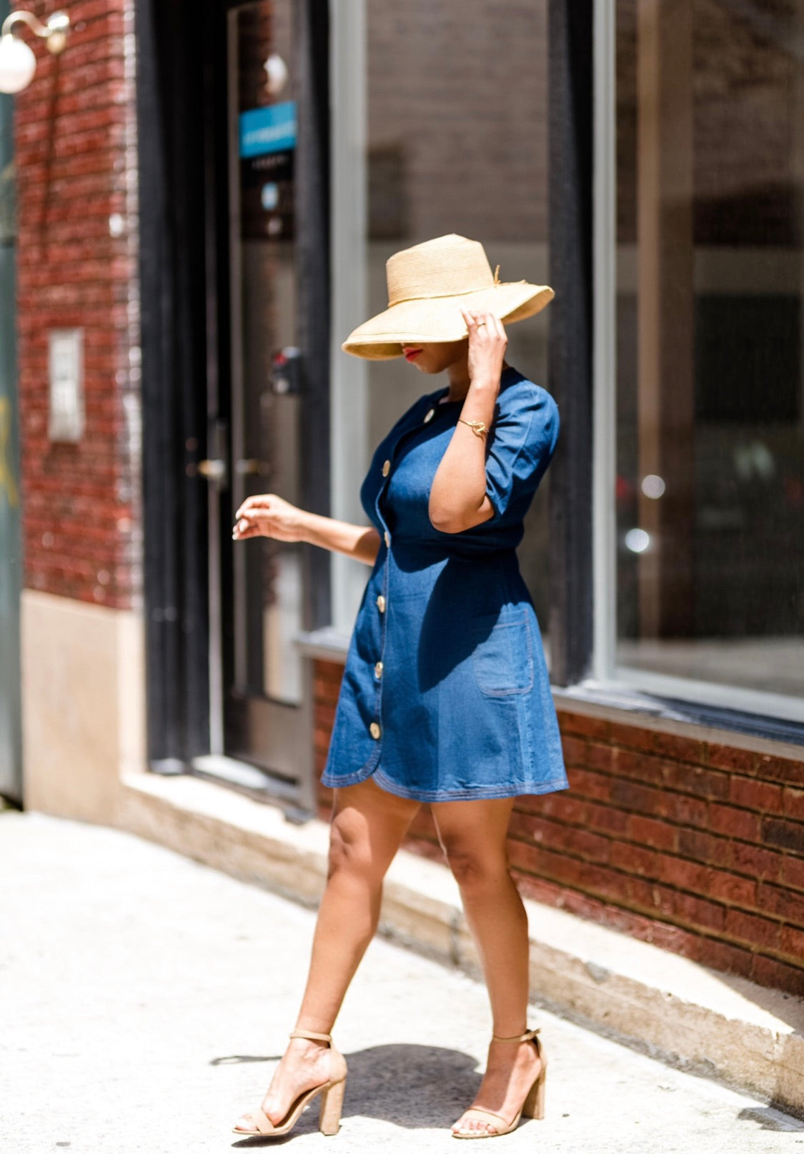 Denim 'n Gold | Dress