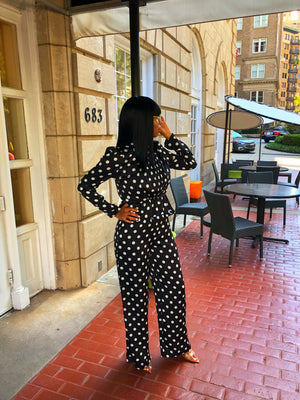 Seeing Spots | Two Piece Pant Set