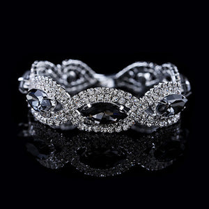 High Fashion bracelet™ for women with rhinestone - Crab-Vault
