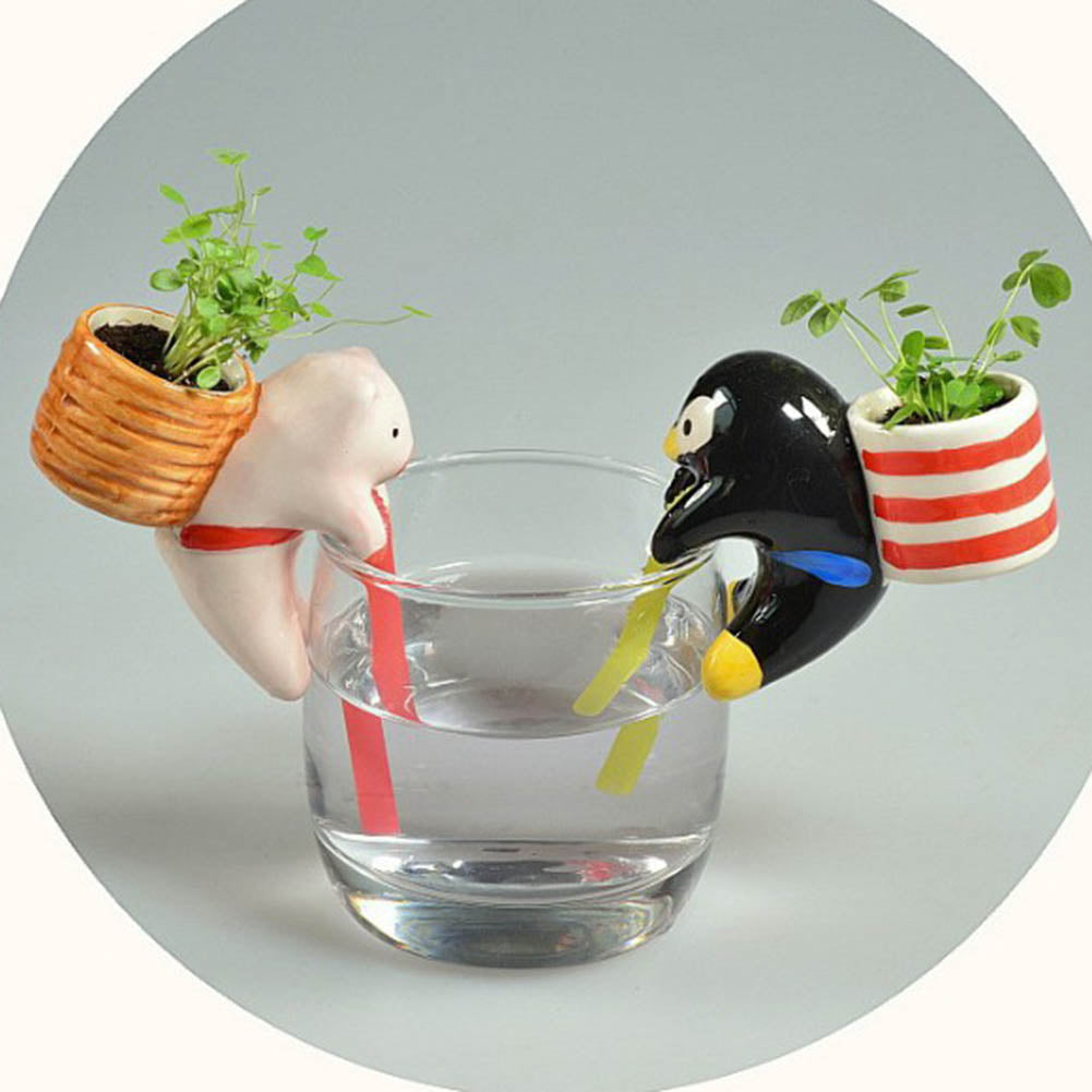 Self Watering Flowerpot Cute Animal Pot With Straw™