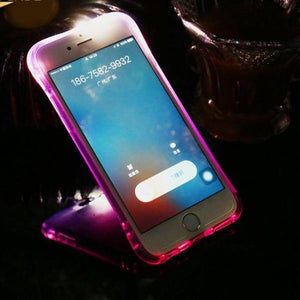 LED Light Transparent Call Case For iPhone 6 7 Plus  8 8 Plus 5S SE™