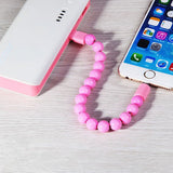 USB Cable Charging Data Cord Bead Bracelet for IPhone and Android™ - Crab-Vault