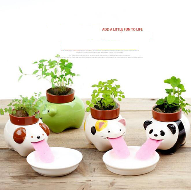Cute Animal Tongue Pot Ceramic Self Watering Planter™ - Crab-Vault