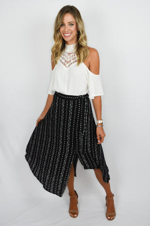 Aztec Wrap Skirt