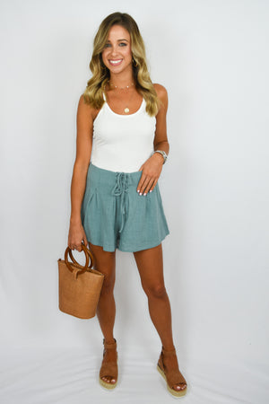 Lace-up shorts