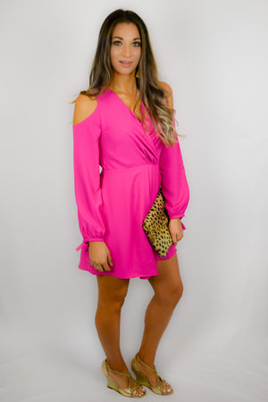 Fuchsia Cold Shoulder Mini