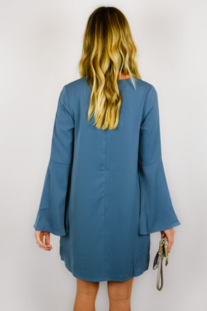 The Becca | Blue Bell sleeve Shift
