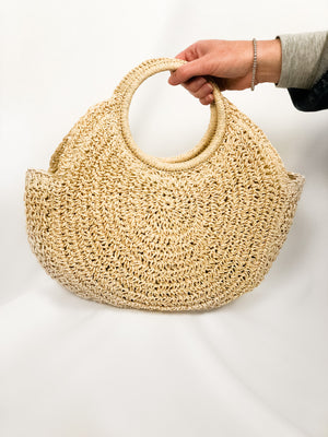 Top Handle Woven Bag