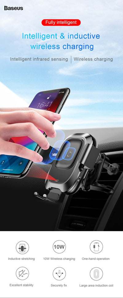 Infrared Qi Wireless Charger For iPhone 11 Pro Max Xiamo mix 3 Car Holder Fast