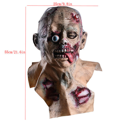 Skull Skeleton Halloween Mask Bloody Zombie Haunted House