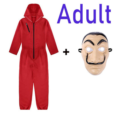 The House of Paper La Casa De Papel Cosplay Party Halloween Mask Money Heist Costume & Face Mask