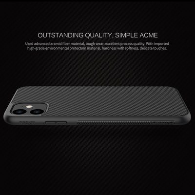 Case Fundas Nillkin Synthetic Fiber Carbon Plastic Back Cover Ultra Thin Slim Phone Shell Coque for iPhone 11 Pro Max