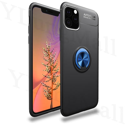 Finger Ring Case on For iPhone 11 Pro Max 2019 X Xs Max XR 6s 7 8 Plus