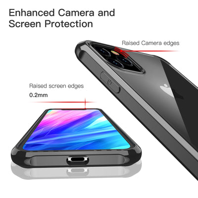 Case Shockproof 360 Degree Clear Protect Soft TPU + Hard PC Plastic Cover for Apple iPhone 11 Pro Max