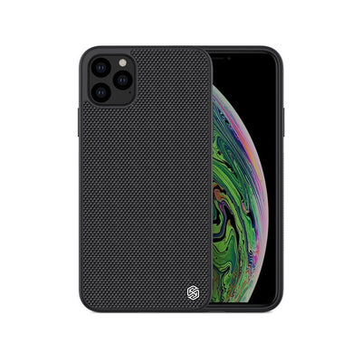 Textured Nylon Fiber Back Cover Business Thin Durable Non-Slip Hard Phone Case for iPhone 11 Pro Max