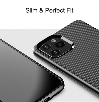 Hadinas Strip Silicone Case for iPhone 11 Soft Protective Phone